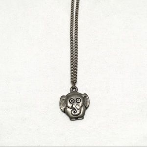 Jewelry - Vintage Elephant Necklace EH 636 pewter